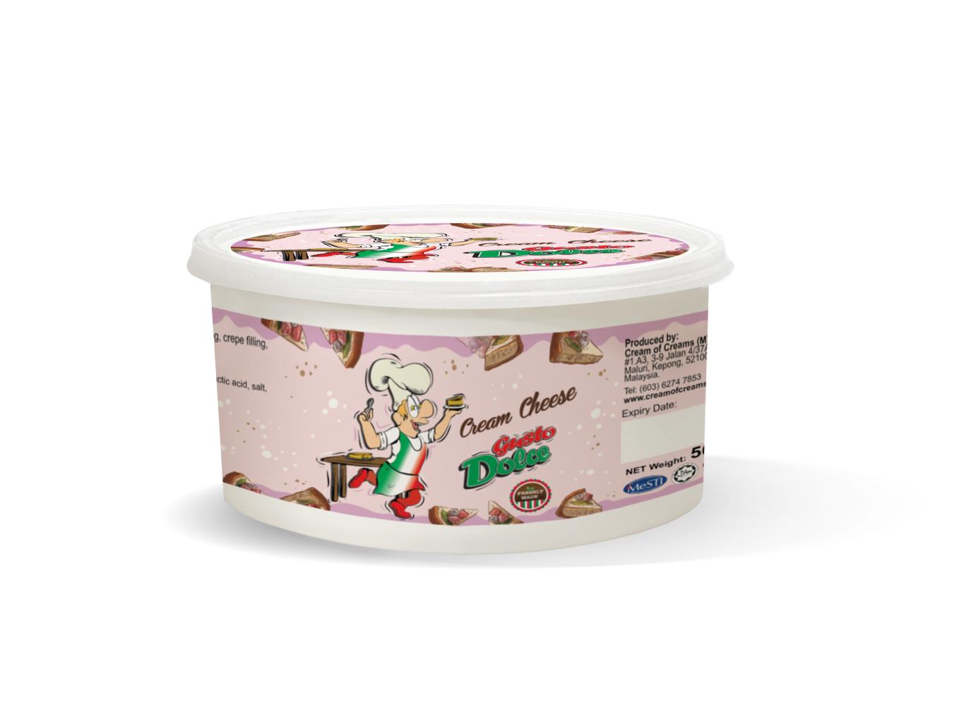 fresh cream cheese tub 500g pink packaging