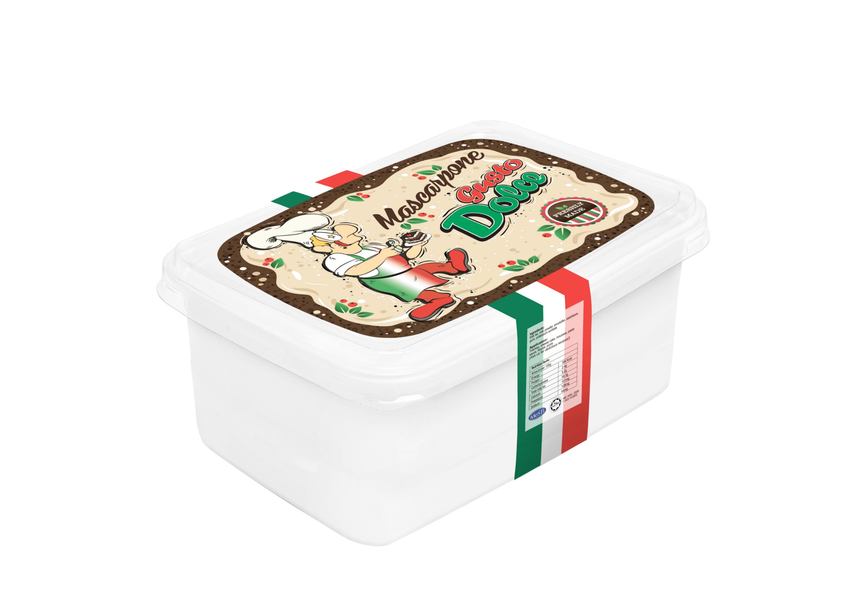 Gusto dolce mascarpone tub mascarpone cheese 500ml