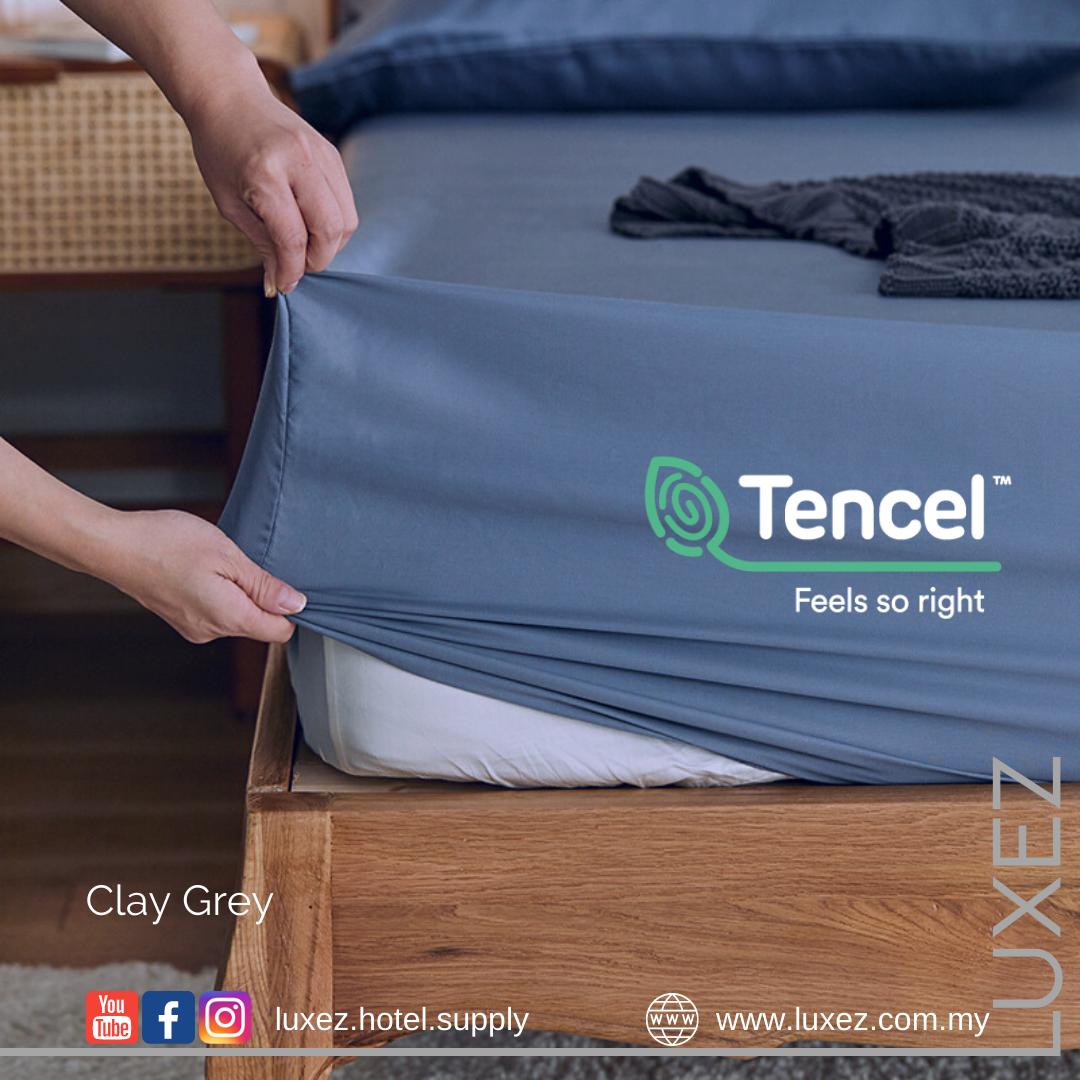 Luxez Tencel Full Bed Set - Clay Grey