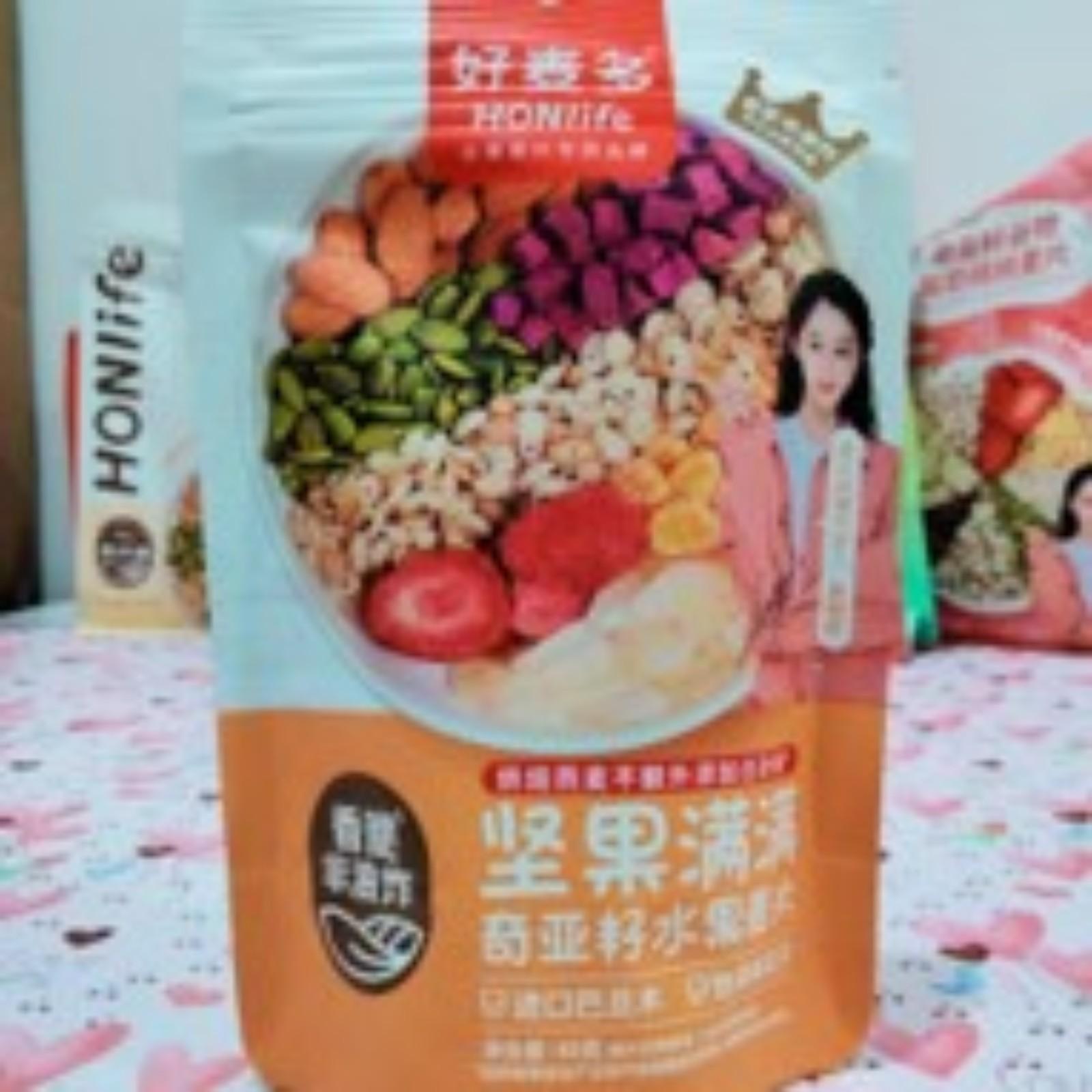 HON LIFE CHIA SEED CEREAL YOGURT(NUTS)GRANOLA 40G 坚果满满 奇亚籽水果麦片